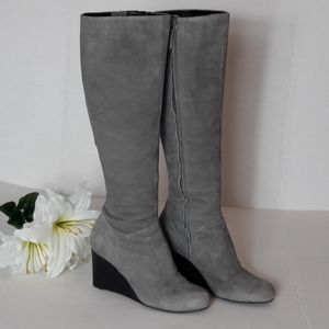 Cole Haan Nike Air wedge suede knee boots